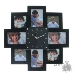"""Купить Часы """"Все время только ТЫ!"""" (черная рамка)"""