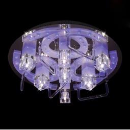 фото Потолочный светильник Eurosvet 5403 5403/7 хром/синий+красный+фиолетовый Eurosvet