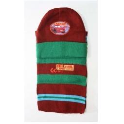 Купить Зимний набор Тачки (шарф+шапка) бордовый