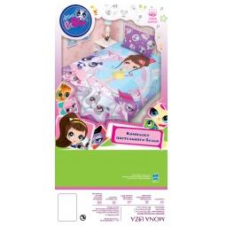 Купить Комплект белья для девочки Littlest Pet Shop 80474 Мона Лиза