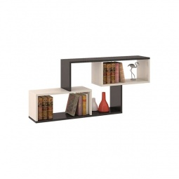Купить Полка навесная 'Мебель Трия' Тип 4 венге цаво/дуб молочный