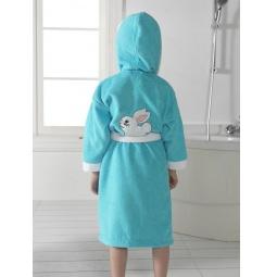 Купить Махровый халат с капюшоном для девочки на 5-6 лет HLT033-10 Tango