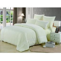 фото Постельное белье Софткоттон с гипюром 1,5 спальное MG-01-1 Valtery
