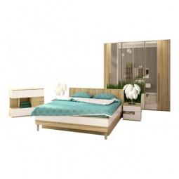 Купить Гарнитур для спальни 'Столлайн' Ирма 17 дуб сонома/белый глянец
