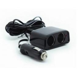 Купить Разветвитель прикуривателя 12/24 (на 2 выхода) CS204 со светодиодной подсветкой