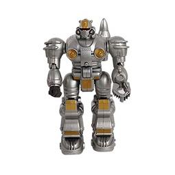 Купить Робот серый металлик (со светом)