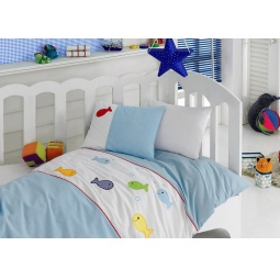 Купить КПБ для новорожденных с аппликацией TRB004 CottonBox