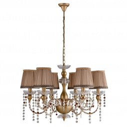 фото Подвесная люстра Crystal Lux Alegria SP6 Gold-Brown Crystal Lux