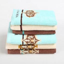 Купить Полотенце Карла Бирюза 100% Хлопок с вышивкой 50*90 см 374020 Мона Лиза