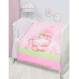 Купить Постельное белье для новорожденных Бязь Зайка Ми розовый 45612 Мона Лиза