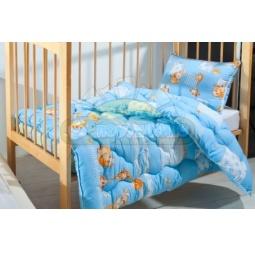 Купить Одеяло детское Влада 110х140 см овечья шерсть Голубое 190208 Подушкино
