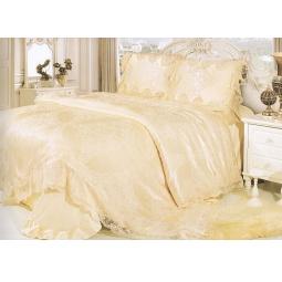 фото Постельное белье Жаккард с вышивкой и кружевом Блюмарин Евро tj600-016 Tango
