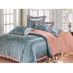 фото КПБ Жаккард с вышивкой 2,0 спальное с 4мя наволочками TORMANTO 44030 Silk-Place