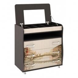 Купить Комод 'Мебель Трия' Тип 5 венге цаво/дуб молочный с цветным рисунком