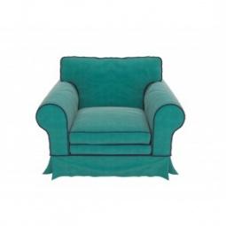 """Купить Голубое кресло """"Provance"""" с подлокотниками"""