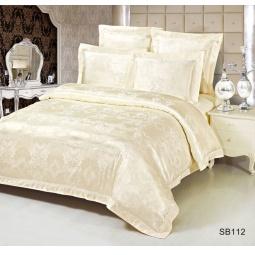 фото Постельное белье Жаккард 2,0 спальное SB112-2 с кружевом Kingsilk