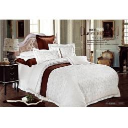 фото Постельное белье Жаккард с вышивкой двуспальный 220-125-2 Valtery