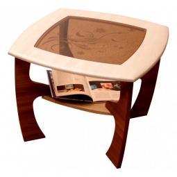 Купить 'Олимп-мебель' Стол журнальный Маджеста-1 1190627 ясень шимо темный/ясень шимо светлый