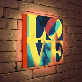 """Купить Лайтбокс """"LOVE 1"""" 35x35-041 FotonioBox"""