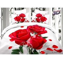 фото КПБ Сатин 2,0 спальный набивной 3D PX90-2 SEDA