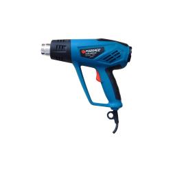 Купить Фен промышленный электрический Forsage electro HG55-2000 LED (220В, 2000Вт, макс.темп-ра 600С, 250-500л/мин) с индикатором температуры и насадками