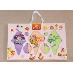 фото Набор полотенец для кухни вафельные с вышивкой Десерты PLT090-9 Tango