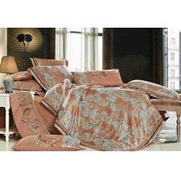 фото Постельное белье Жаккард с вышивкой двуспальный 220-130-2 Valtery