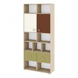 Купить Стеллаж комбинированный 'Мебель Трия' Тетрис ПМ-154.07 ясень белладжио/молочный/оливковый/шоколадный