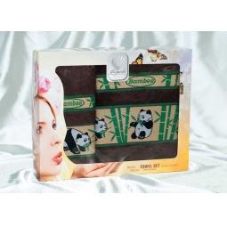 Купить Набор Бамбуковых полотенец Панды из 2х штук 50*90 см + 70*140 см plt020-3 Турция