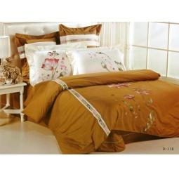 фото Постельное белье сатин с вышивкой семейное D118-4 СайлиД
