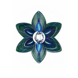 Купить Ветряной спиннер Цветок с кристаллом 25см