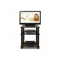 Купить Стеллаж под ТВ 'Мебелик' ТВ-3.60 черный/коричневый