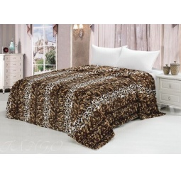 фото Плед меховой 160х220 см Леопард темный mtx007-160 Tango
