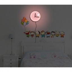 Купить Светильник-часы 8*0,5W LEDs 5730smd с USB-проводом (5V адаптор входит в комплект); 1*AA батарея (в комплект не входит), NL75