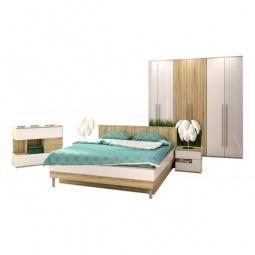 Купить Гарнитур для спальни 'Столлайн' Ирма 16 дуб сонома/белый глянец