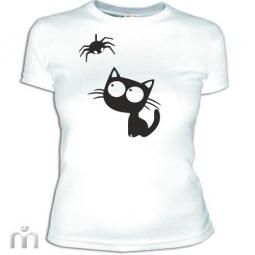 Купить Женская футболка «Котик»