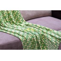 фото Плед флисовый Гамма кружки 130*190 см кружки зеленый 701421 Подушкино