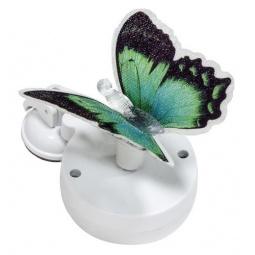 """Купить Светильник садово-парковый на присоске на солнечной батарее """"Бабочка"""" зеленый, 1 RGB LED, 46*30*42мм, PL264"""