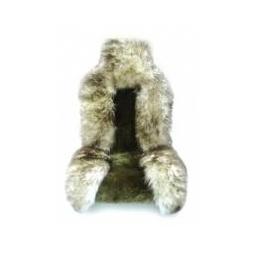 Меховой чехол Jolly Premium бело-коричневый (австралийская овчина)