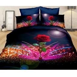 фото КПБ Сатин 2,0 спальный набивной 3D PX05-2 SEDA