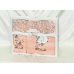 Купить Набор Махровых полотенец Cestepe из 2х штук 50*90 см + 70*140 см plt138-9 Турция