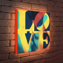 """Купить Лайтбокс """"LOVE 1"""" 45x45-041 FotonioBox"""