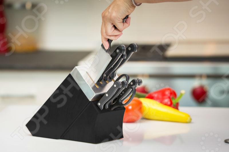 Набор ножей с подставкой и ножеточкой Delimano «Шеф повар» 4