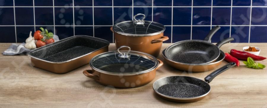 Набор кухонной посуды Delimano «Сила Камня» Люкс 1