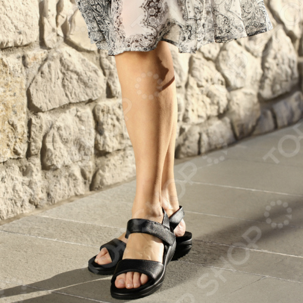 Сандалии дышащие женские Walkmaxx Pure 2.0. Цвет: черный 2